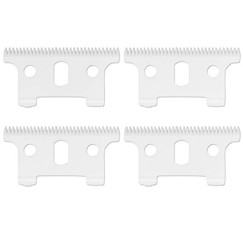 Professional Replacement Ceramic Moving Blades #04521 for Andis T Outliner, Including 4 Pieces Moving Blades, Compatible with Andis T Outliner GXT Trimmer(Off White, 4 Pieces) -  AIRERA, MPN710038