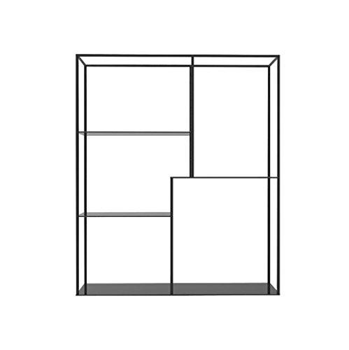 Décorations murales Etagère design 3 niveaux Rectangle fer TV fond décoration murale/étagères murales/support de mur support d'affichage de stockage pour le bureau à domicile/loft mur clins mura