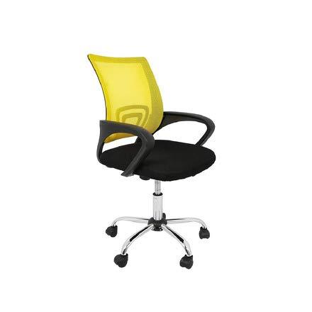 CashOffice - Silla de Escritorio Ergonómica, Silla de Oficina Giratoria con Respaldo Transpirable (Amarillo)