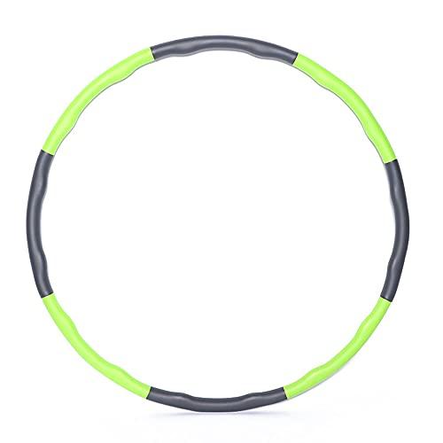 YYMM Hula Hoop - Aro de fitness para oficina, abdomen, 2,5 libras, adecuado para ejercicios de fitness para adultos jóvenes y mujeres (verde)