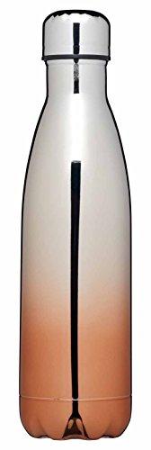 Kitchen Craft Le 'Xpress Edelstahl doppelwandig Isolierte Trinkflasche, 500ml (17,5FL OZ)–Finish, Kupfer