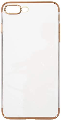 Capa Crystal Case Transp. c/lateral Dourada Iphone 8/7 Plus
