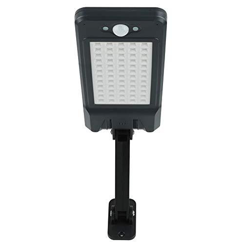 Solar Outdoor Street Light 60LED draadloze afstandsbediening waterdichte wandlamp tuin garage pad veiligheidslicht zwart 1 stuk