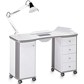 Mesa de manicura profesional completa con aspirador de polvo y ...