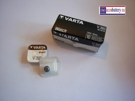 10 Stück Varta 393 Silberoxidbatterie