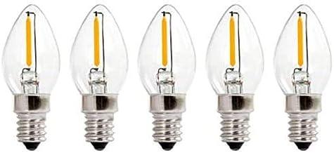 KLED LED Night Light Bulb, LED Edison Bulb, C7 0.5W (10W Equivalent), LED Filament Bulb, 60 Lumen, 2700K (Warm White), Med...