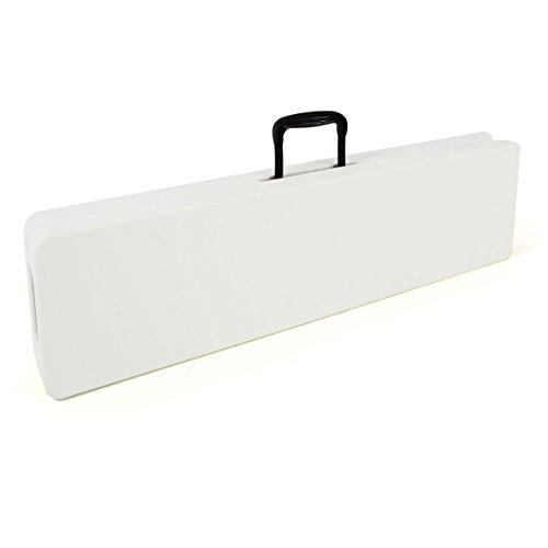 Partybank Klappbank 180 x 25 x 41 cm Bierbank bis 200 kg Gartenbank Garnitur robust stabil wetterfest Kunststoff für 4 Personen Farbe wählbar schwarz weiß (weiß) - 5