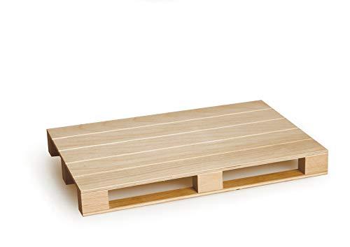 Excelsa Real Wood Tagliere a Servire Pallet, Legno Naturale, 35 x 20 x 3.7 cm
