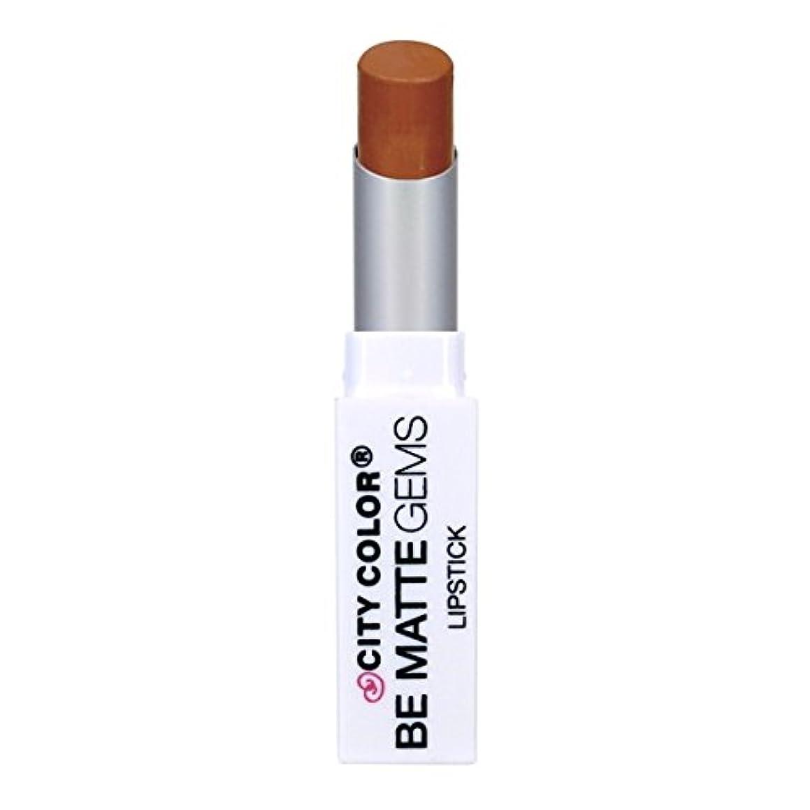 疎外工業用ボイドCITY COLOR Be Matte Gems Lipstick - Amber (並行輸入品)