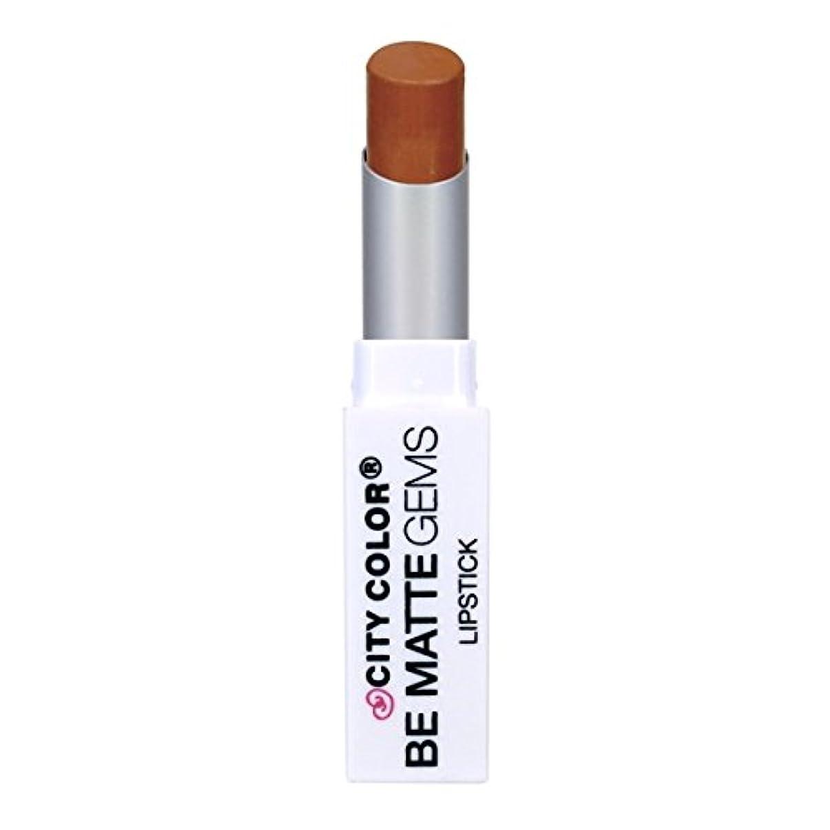 吸い込む買収耐えられないCITY COLOR Be Matte Gems Lipstick - Amber (並行輸入品)