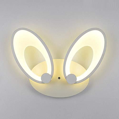 MJSM Light Wandlampen, slaapkamer, eenvoudige persoonlijkheid, creatieve konijnenoren, LED trappen, nachtlampje, decoratie, acryl, warm licht, hazenoren