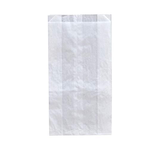 Pack&Cup Bäckerbeutel, Faltenbeutel ohne Fenster White 2291 ml 1000 Stück