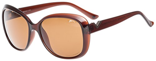 RELAX Gafas de Sol Mujer Anteojos para el Sol de Señora R0306D Marrón