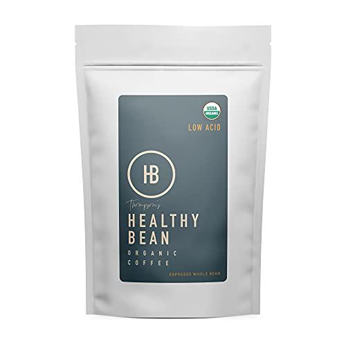 Healthy Bean Coffee - Espresso, Low Acid Coffee | Whole Bean, Organic | - 11oz.
