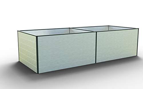 GFP Daniela 297 Aluminium Hochbeet für den Garten - 297x99x77cm, formstabil und witterungsbeständig auch bei Hagel mit Aluminium-Hohlkammerprofilen, Verschiedene Sets vorhanden - Made in Austria