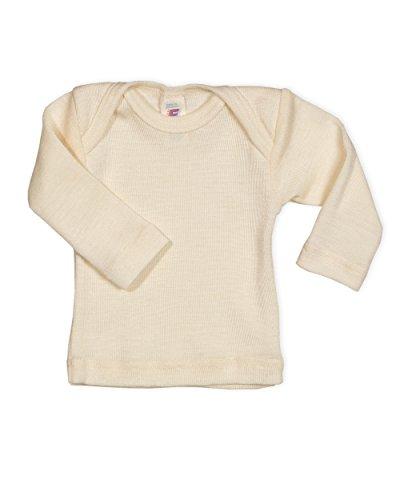 Engel Baby Unterhemd langarm, 100 Wolle, Engel Natur, Gr. 62/68