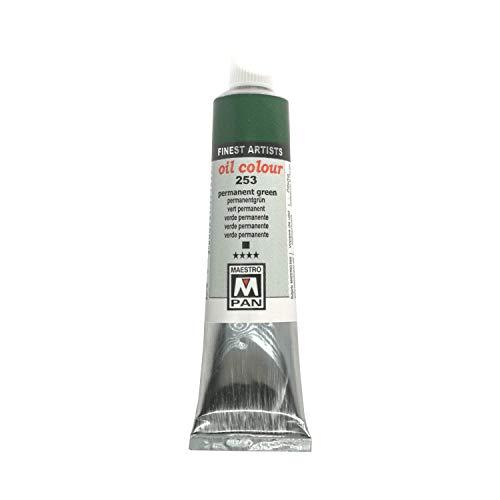 Farba akrylowa dla artystów 84 kolory Profesjonalne malowanie Maestro Pan 200ml Plastikowy słoik (253 Trwały zielony)