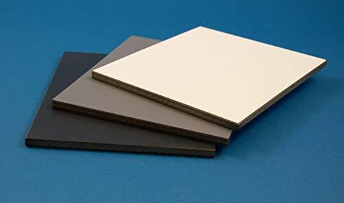 HPL 6mm Schichtstoffplatten Baukompaktplatten Fassadenplatten - Zuschnitt möglich - Stylam Dunkelgrau B2 1300mmx3050mm / ähnlich RAL 7037