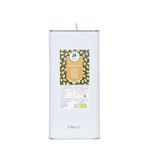 Oleificio Mallia - Olio extravergine di oliva italiano BIOLOGICO - Campagna Olearia 2020/2021 - Lattina da 5 litri - Estratto a Freddo