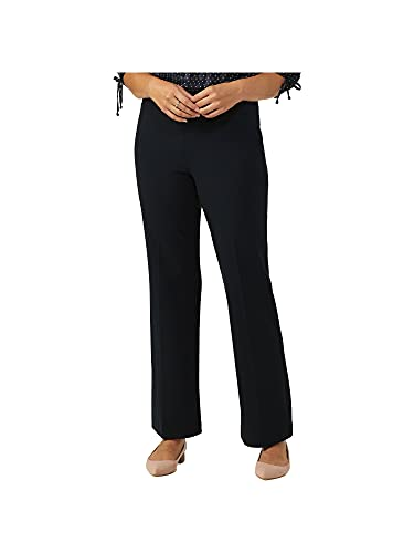 Dressbarn Women's Roz & Ali Secret Agent Tummy Control Pants Mid-Rise Average Length Navy