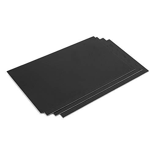 TuToy 200X300Mm 0,5-5Mm Schwarz Glasfaserplatte Glasfaserplatte Epoxidglas Fr4 Glasfaserplatte Für Heimwerker - 5Mm