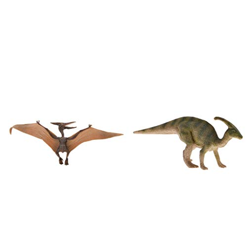F Fityle 2 Pieces Resin Dinosaur Action Figure Old Animal Puppet Toy Realistic Model