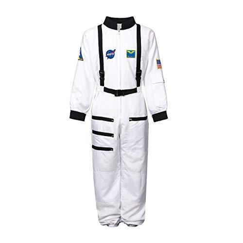 Kostümplanet® Astronauten-Kostüm Herren Astronaut Weltraum Fasching Verkleidung Space Karnevalskostüm Herrenkostüm Weltall Outfit Overall Größe L