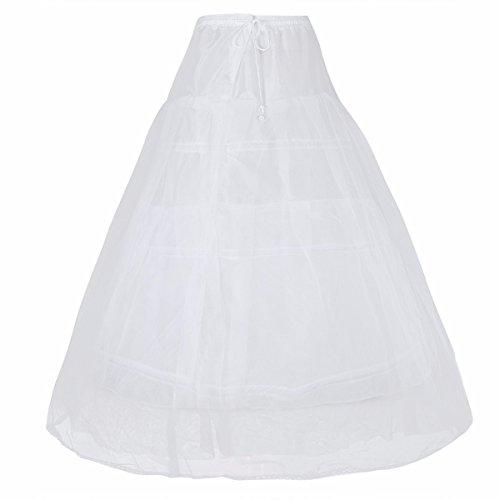 FEESHOW 3 Ringe Reifrock Petticoat Krinoline Unterrock für Hochzeit Brautkleid Blumenmädchenkleid...