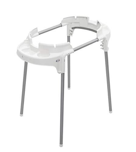 Rotho Babydesign TOP Support de baignoire fonctionnel, Pliable et réglable en hauteur, Pour baignoires TOP, Charge max. 60 kg, 100 x 101 x 51,5 cm, Blanc, 20502