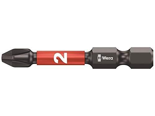 Wera 851/4 Diamond Coated Impaktor Screwdriver Bits for PH 2 Phillips Screws, Pack of 5