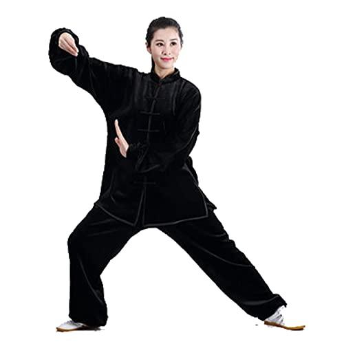 WWAIHY Traje de Tai Chi,Mantener Caliente Kung fu Ropa,2 Piezas Chino Tradicional Traje Tang Artes Marciales,Unisex Ropa de Artes Marciales Kung-fu Disfraz para Hombre y Mujer(Size:M,Color:púrpura)