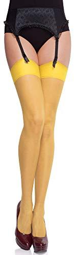 Merry Style Medias Finas Transparentes Autoadhesivas Lencería sexy Mujer MS 226 15 DEN (Neutro, M-L) (Ropa)