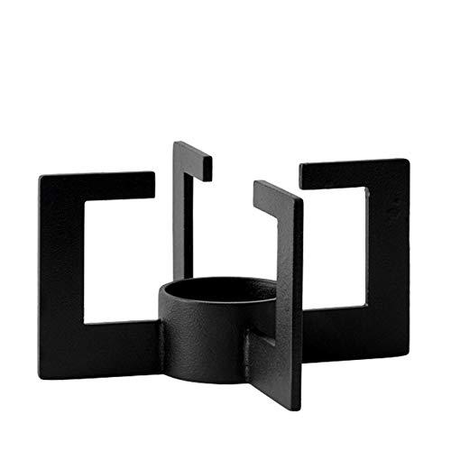 Cast Stövchen, schwarz pulverbeschichtet H: 7,6 cm Ø: 14,6 cm