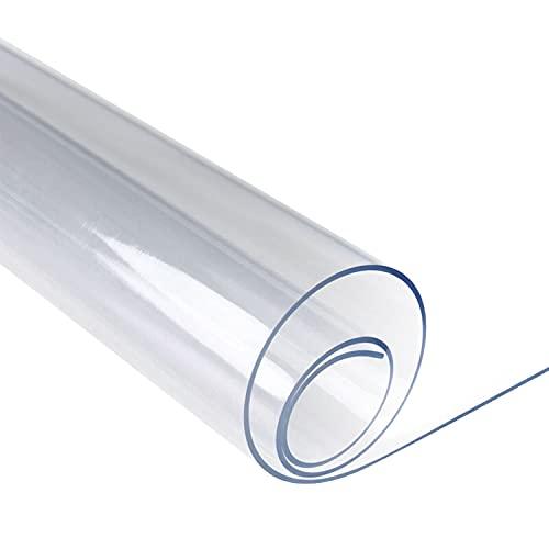 SPEEDSPORTING Glasklar Folie Transparente Tischdecke Tischschutz 2mm dick Tischfolie Transparent PVC Folie Schutzfolie - Schutztischdecke Tischschutzfolie Fettdicht (90*180cm)