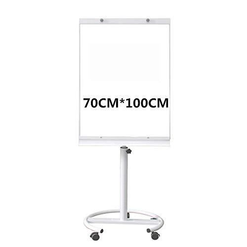 Tableau blanc Base de disque avec frein blanc Plate Carte de démonstration avec Universal Wheel Retourner réglable Suit Démo Conseil for les bureaux enseignants Tableaux blancs mobiles Tableau blanc m