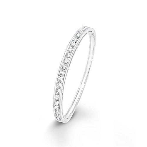 Noelani Damen Armreif veredelt mit Swarovski Kristallen, Breite ca. 5 mm