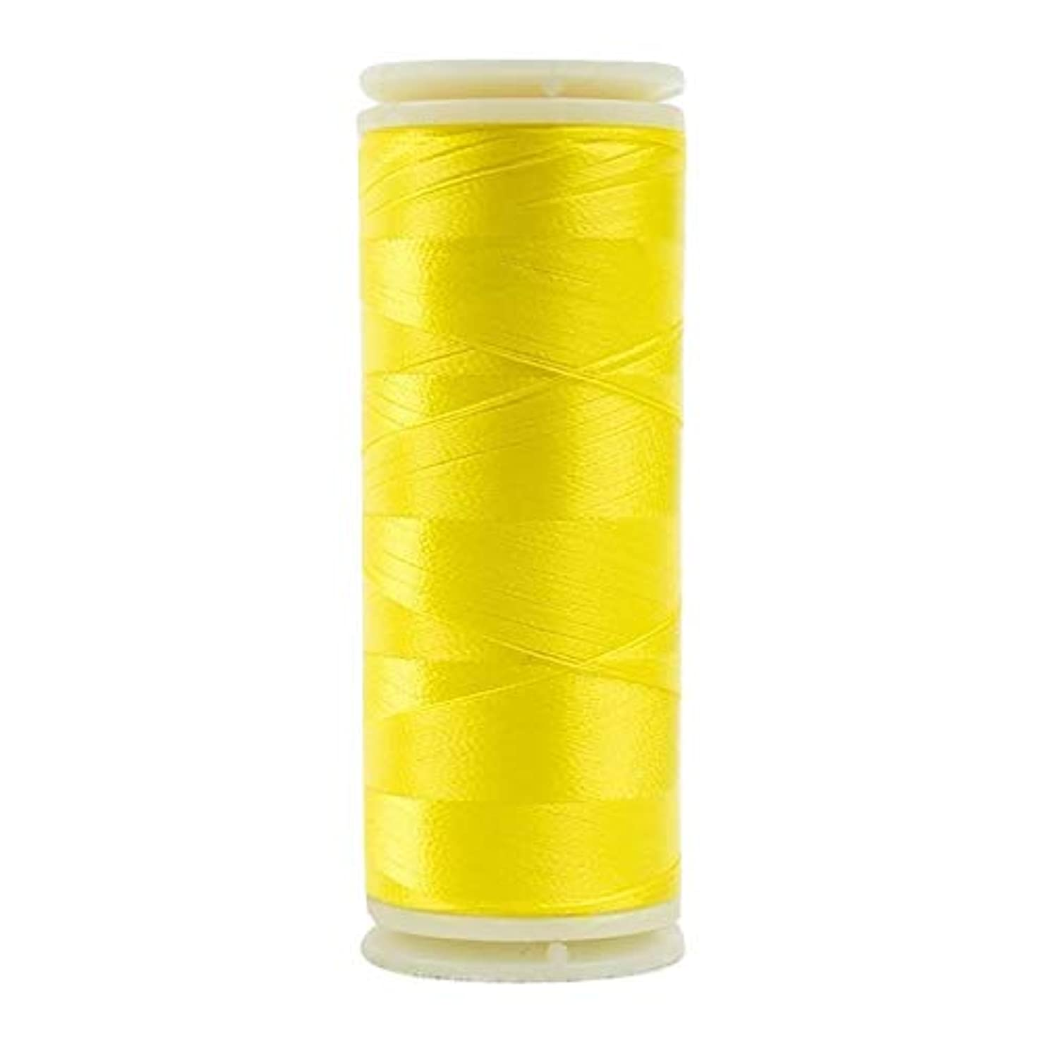 WonderFil, Specialty Threads, InvisaFil, 2-Ply Cottonized Soft Polyester, Silk-Like Thread for Fine Sewing, 100wt - Daffodil Yellow, 400m