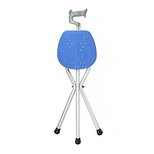 SAILUN Bastones con asiento, muletas plegables de aluminio con trípode, antideslizantes y estables para personas mayores, discapacitadas, con movilidad reducida