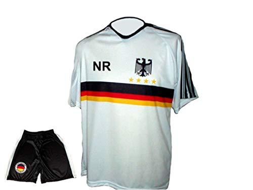 Spielfussballshop Deutschland Trikot Adler + Hose mit Wunschname + Nummer Erwachsenen Größen (146)