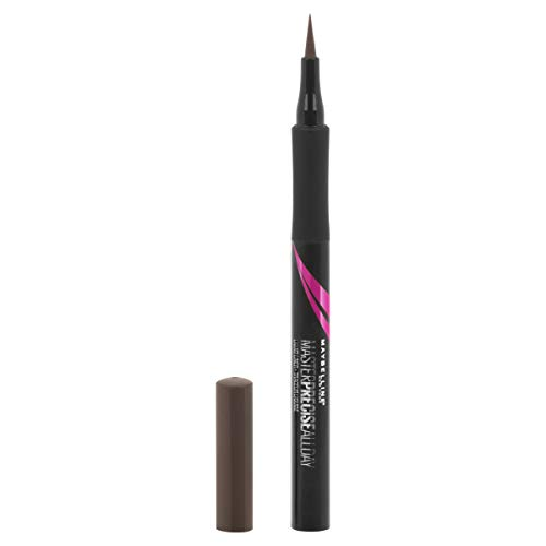 Maybelline Eyestudio Master Precise All Day Liquid Eyeliner, Forest Brown, 0.034 Ounce