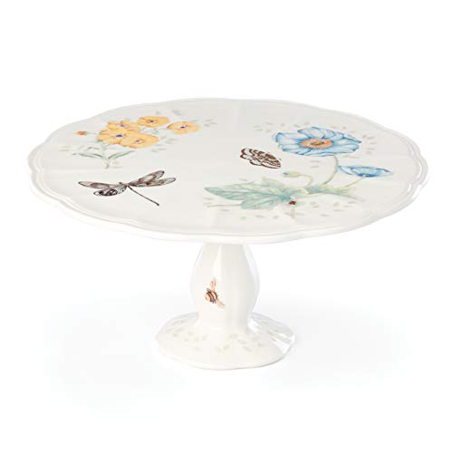 Lenox Butterfly Meadow Gold Pedestal Cake Plate, 2.90 LB, Multi