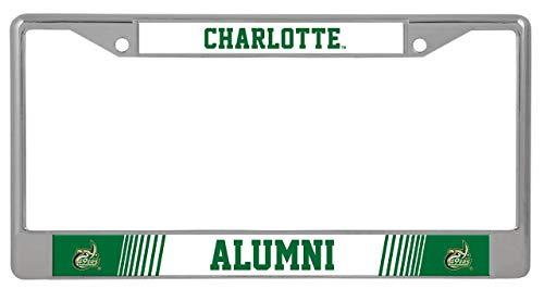 Rico UNC Charlotte 49ers Alumni Metal License Plate Chrome Frame