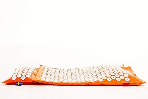 Mysa Super Booster : Le meilleur Tapis. 100% ergonomique 100% chauffante 100% naturel. Tapis + Coussin pour Acupression et Magnetotherapie