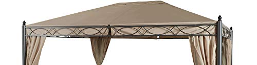 GRASEKAMP Qualität seit 1972 Ersatzdach zu Garten-Pavillon ROM 3x4 Beige Party-Zelt Terrassen-Dach