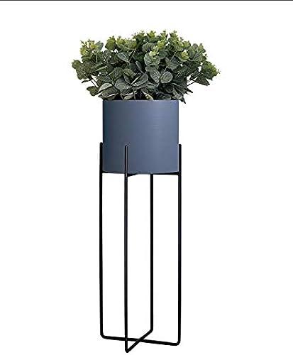 Jiniriiuirhinibdsbu Punch-Free, Nordic Balkon Grünpflanze Regal Grünikal Schmiedeeisen Modern Minimalist Kreatives Wohnzimmer Innen Dekorative Blaumenst er (Farbe   Ash lila, Größe   Tuba)