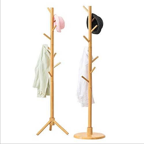 ZKL shop Perchero para dormitorio, percha de madera, para entrada de casa y oficina, para colgar abrigos, sombreros, perchero (tamaño: tipo cilíndrico)