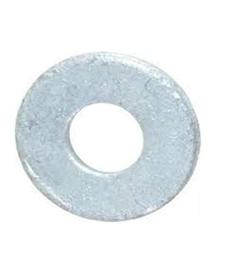 """Steel Flat Washer, Hot-Dipped Galvanized Finish, ASME B18.22.1, 3/4"""" Screw Size, 13/16"""" ID, 2"""" OD, 0.148"""" Thick (Pack of 25)"""