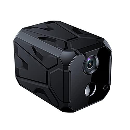 SXTYRL Mini Camara, Portátil, Microcamara, Comunicación Bidireccional, Espia Camara, Hogar Garaje Oficina, con Alertas, con Batería (Color : Black, Size : 16G)