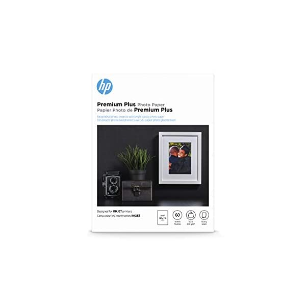 HP Premium Plus Photo Paper | Glossy | 5×7 | 60 Sheets