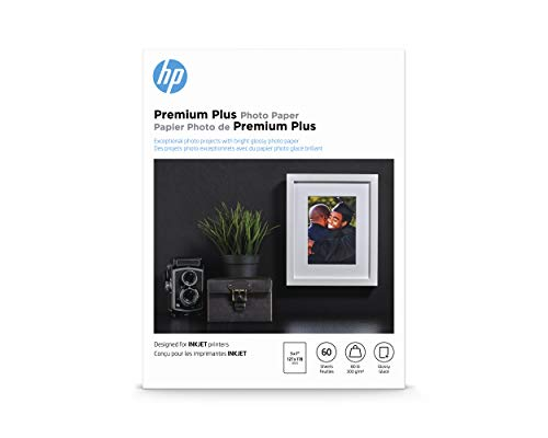 HP Premium Plus Photo Paper | Glossy | 5x7 | 60 Sheets